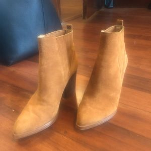 Marc Fisher Brown Suede Booties size 7